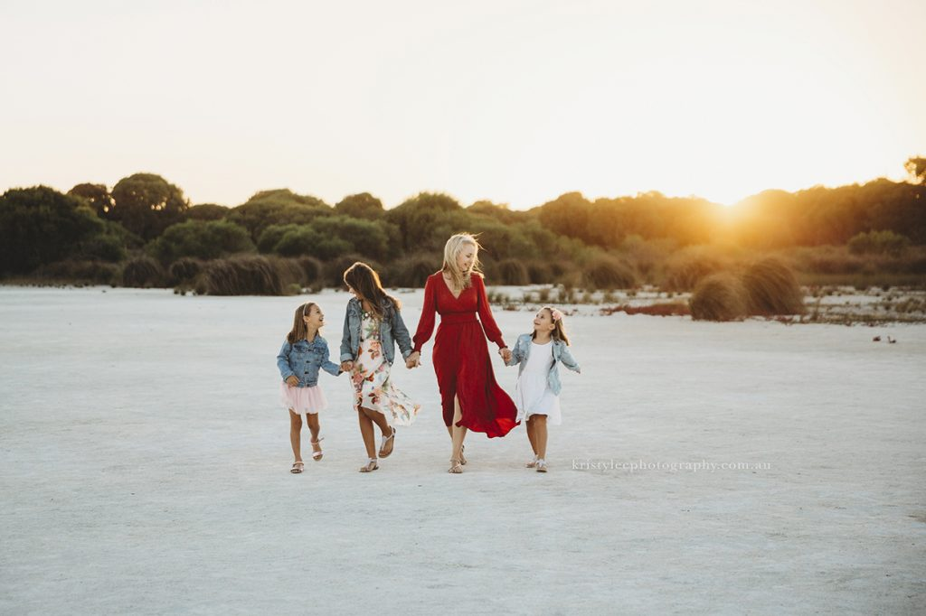 Rockingham salt lakes family portraits